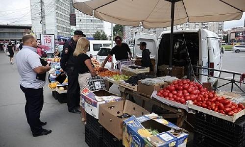 За пять дней с улиц Новосибирска изъято более 1,5 тонны фруктов и овощей