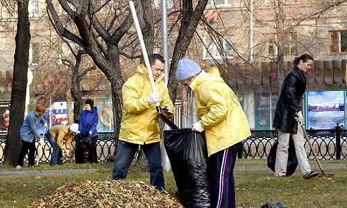 Субботний день в Новосибирске – генеральная уборка города