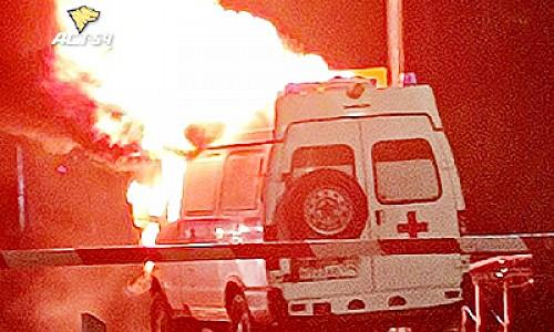 """В Новосибирске во время движения сгорела карета """"Скорой помощи"""""""