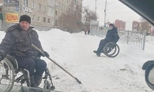 Почистил снег и получит квартиру инвалид-колясочник из Искитима