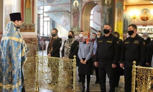 Судебные приставы в Новосибирске отслужили молебен в Воскресенском соборе